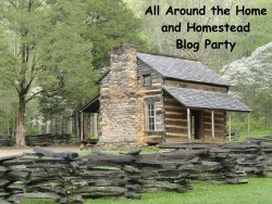 All Around the Home and Homestead Blog Party Button