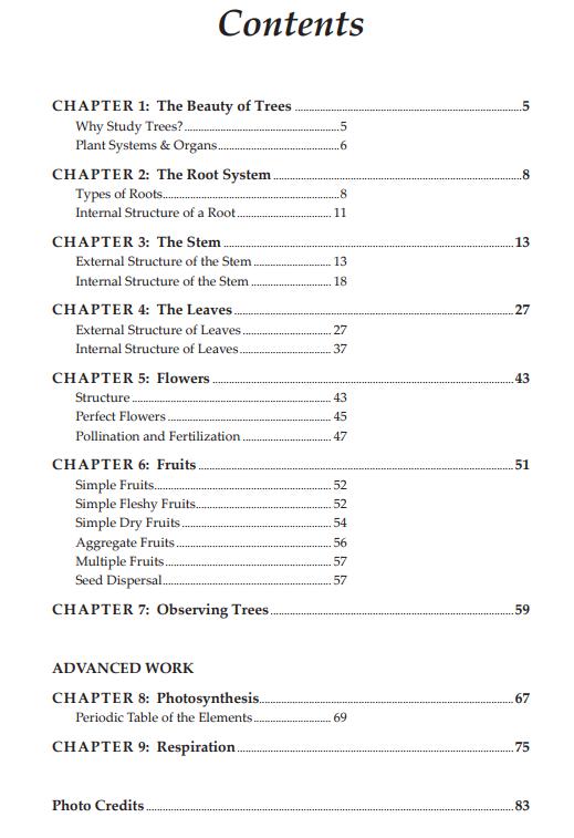 table of contents tree reader